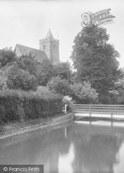 St John's Church From The Canal 1929, Great Amwell