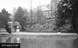 St John's Church From The New River c.1950, Great Amwell