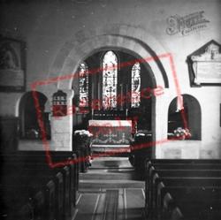 St John's Church Interior c.1950, Great Amwell