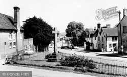 Great Bardfield, Brook Street And Memorial c.1965
