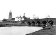 Great Barford, the Bridge  c1955