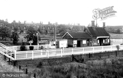 Great Bedwyn, The Station And Railway Terrace c.1955