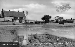 The Pond c.1955, Great Bircham