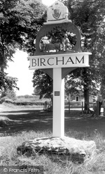 Great Bircham, The Village Sign c.1965