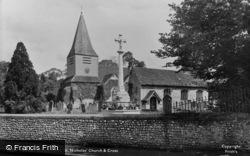 Great Bookham, St Nicolas Church And Cross 1921