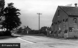 Great Broughton, Village Hall And Stokesley Road c.1955
