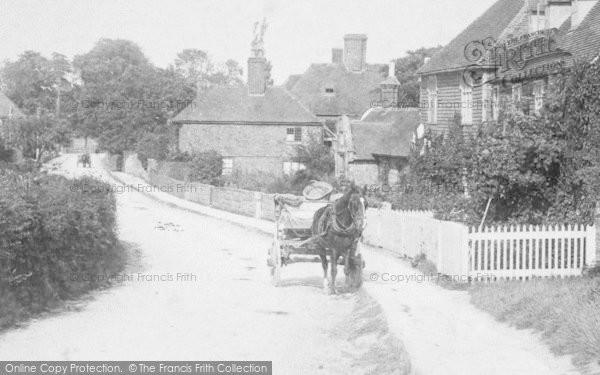 Photo of Great Chart, Cart In The Village 1901