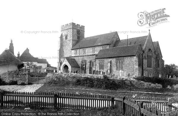 Photo of Great Chart, St Mary's Church 1901