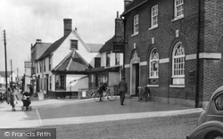 Post Office And Tudor Restaurant c.1950, Great Dunmow