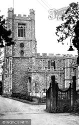 St Mary's Church c.1955, Great Dunmow
