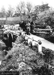 Horses Crossing The Bridge 1951, Great Easton