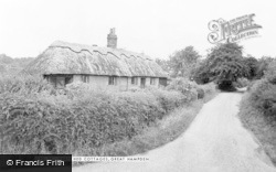 Great Hampden, The Thatched Cottages c.1955