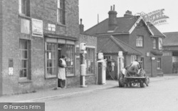 Great Hockham, Post Office And Filling Station c.1955