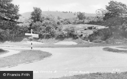 Great Kimble, Combe Hill And Cross Roads c.1955