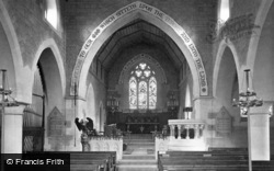 Great Malvern, Cowleigh Church Interior c.1870