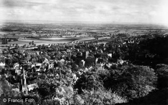 Great Malvern, from North Hill c1875