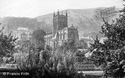 Great Malvern, Hills And Priory Church c.1870