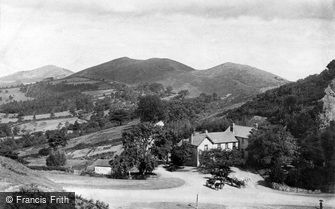 Great Malvern, Malvern Hills from the British Camp c1870