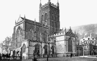 Great Malvern, Priory Church c1870