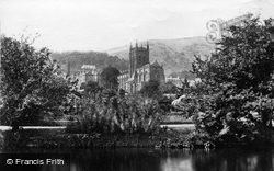 Great Malvern, Priory Church From The Swan Pool c.1870