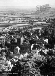 Great Malvern, Priory From North Hill c.1875