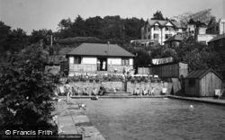 Great Malvern, The British Camp Hotel, Swimming Pool c.1955