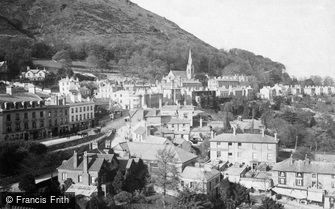 Great Malvern, the Town and North Hill c1875