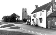 Great Massingham, The Swan and St Mary's Church c1965