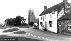 The Swan And St Mary's Church c.1965, Great Massingham