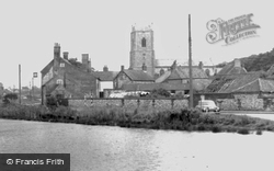 The Village Pond And Church c.1965, Great Massingham