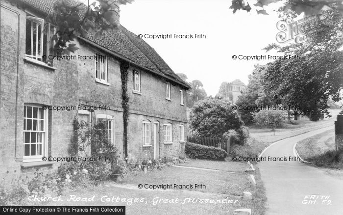 Photo of Great Missenden, Church Road Cottages c.1955