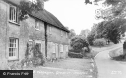 Great Missenden, Church Road Cottages c.1955