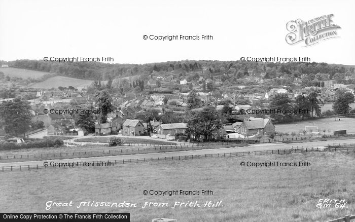 Photo of Great Missenden, From Frith Hill c.1955