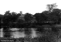 Great Mitton, All Hallows Church And River Ribble 1921