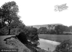 Great Mitton, Church From The River Ribble 1921