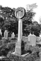 Great Mitton, Churchyard, Old Cross 1899