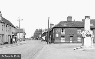 Great Oakley, High Street and War Memorial c1955