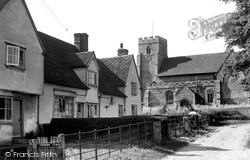 Great Sampford, Church Corner c.1955