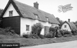 Great Sampford, Thatched Cottage c.1950