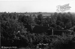 Great Sampford, View From Mount View c.1955