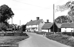 Great Sampford, View From The Bridge  c.1955