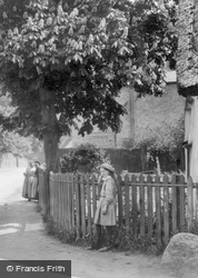 A Girl At The Village Corner 1914, Great Shelford