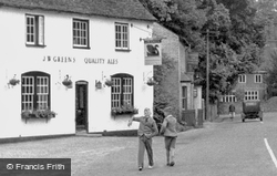 Two Boys On High Street c.1955, Great Shelford