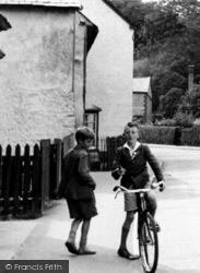 Two Friends On Woollards Lane c.1955, Great Shelford