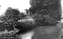 Great Somerford, The Church Of St Peter And St Paul From The River Avon c.1960