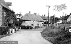 Great Wishford, Lotmore Cottages And The Royal Oak c.1955