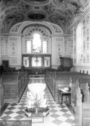 Witley Court Church Interior c.1960, Great Witley