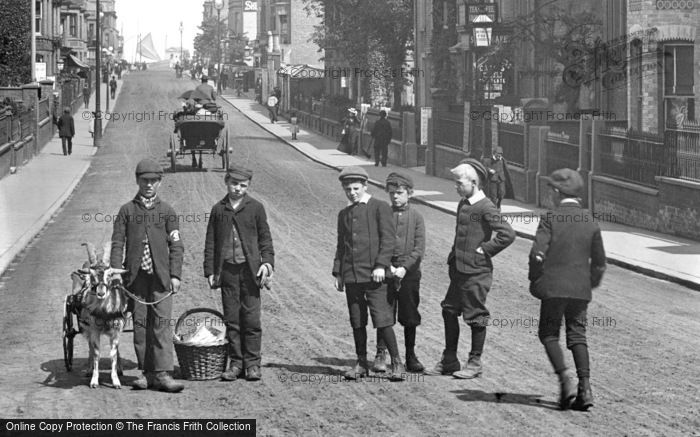 Photo of Great Yarmouth, Boys in Regent Road 1896