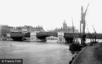 Great Yarmouth, Haven Bridge 1896