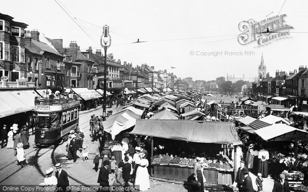 Photo of Great Yarmouth, Market Place 1908